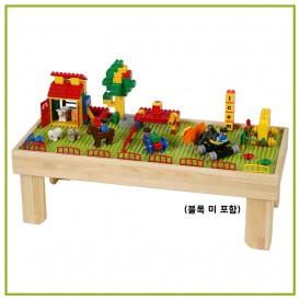 친환경 원목 블록 책상